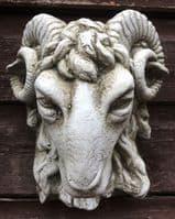 'Rams Head' decorative wall plaque